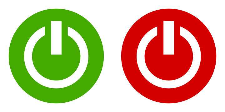 power on off vector icon set