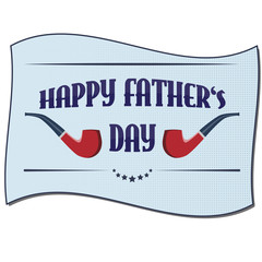 Fully vector Happy father's day card