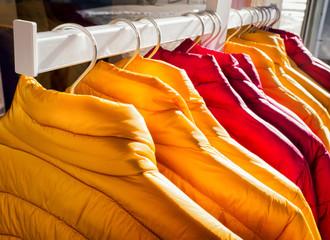 row of jackets