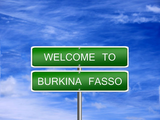 Burkina Fasso Travel Sign