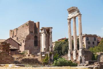 Old Roman Forum in Rome, Italy