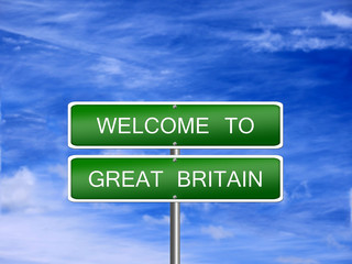 Great Britain Travel Sign