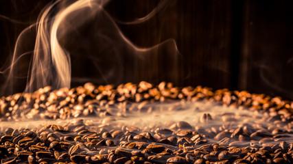 Coffee bag full of taste roasted grains