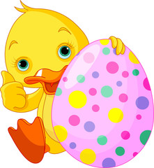 Easter Duckling gives thumbs up