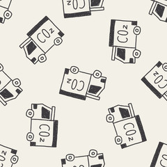 truck doodle drawing seamless pattern background