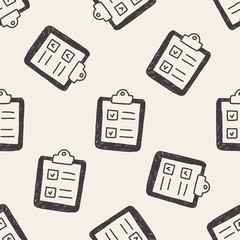 paper checking list doodle drawing seamless pattern background
