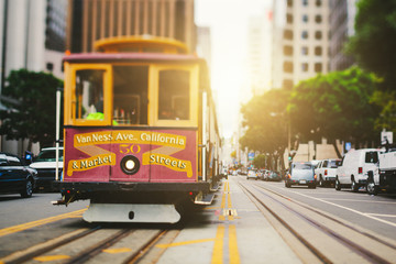 San Francisco Cable Car in California Street Wall mural