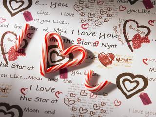 stick candy i love you
