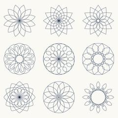 Geometric ornaments.