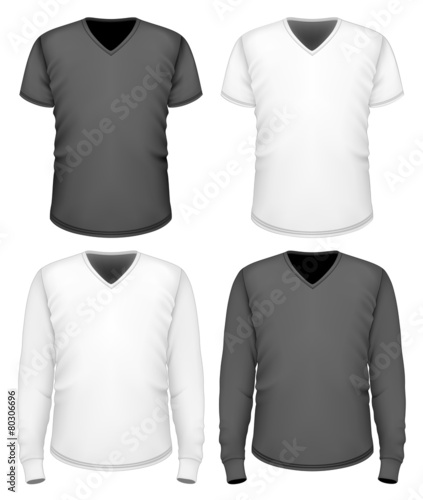 0db10e14c28 Men t-shirt v-neck short and long sleeve.