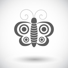 Butterfly single icon.