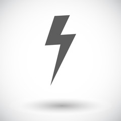 Lightning single icon.