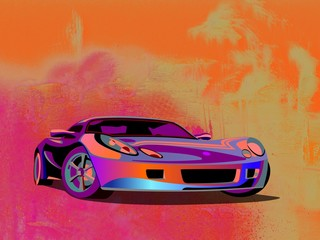 illustration sports car