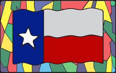 Texas Flag On Stained Glass