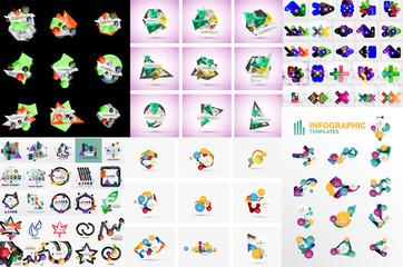 Infographic geometric layouts
