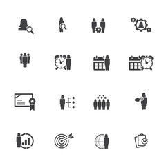 Business and management icon set - female icons