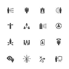 Human resource management icon set -  female icon set