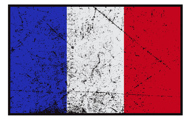 French Flag Grunged