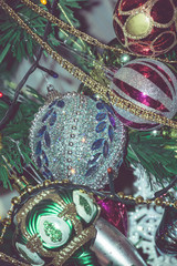 Retro Colorful Christmas Decorations