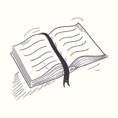 Sketched open book desktop icon