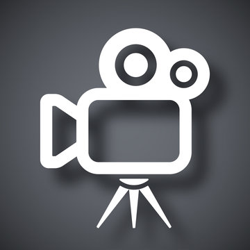 Vector movie camera icon