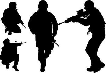 Military man silhouette