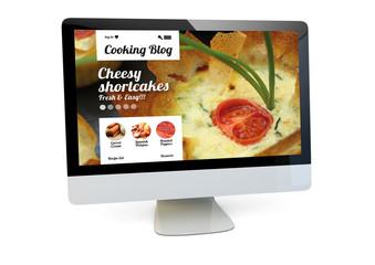 cooking website computer