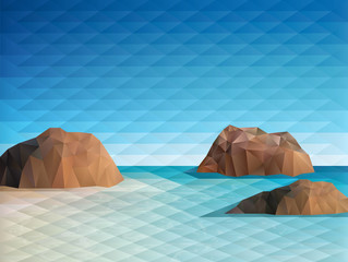 Triangular Scene Background