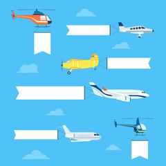 Flat airplanes set