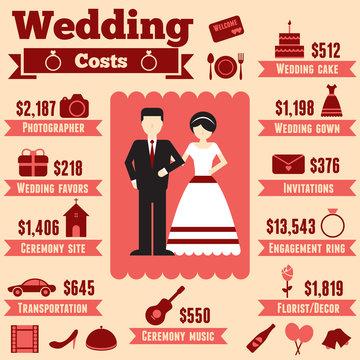 Wedding cost infographic