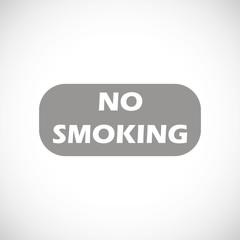 No smoking black icon