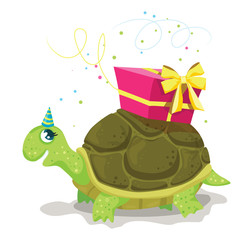 Tortoise with a present