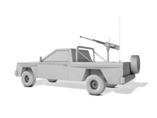 armed pickup truck