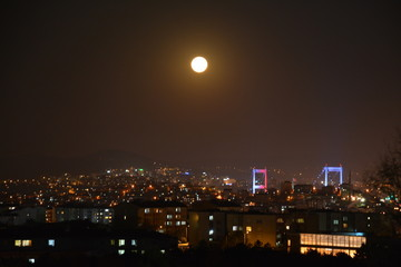 Hazy Night at Istanbul