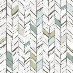 Obraz Hand drawn herringbone pattern - fototapety do salonu
