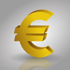 euro money sign symbol isolated