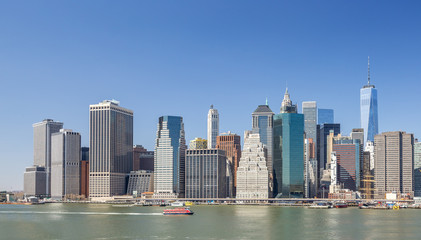 New York City Manhattan buildings skyline downtown