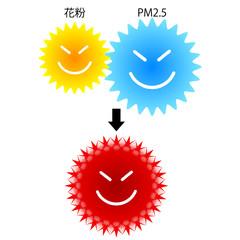 花粉 PM2.5 アイコン