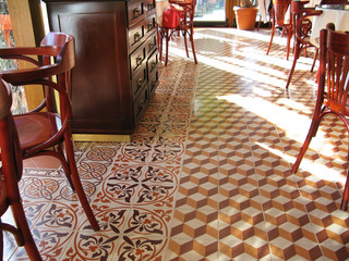 Tile in the cafe
