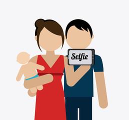 Selfie design, vector illustration.