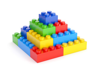 Toy blocks pyramid