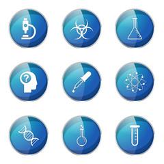 Science Instruments Blue Vector Button Icon Design Set