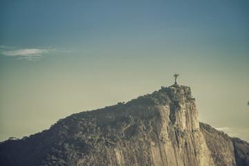Sunrise over Christ the Redeemer in Rio de Janeiro