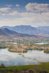 View of Lempa river reservoir in El Salvador