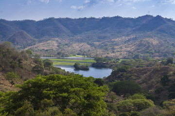 Lempa river reservoir in El Salvador