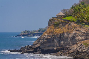 Beautiful panoramic view of Sunzal beach in El Salvador