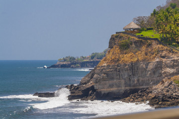 Beautiful view of Sunzal beach in El Salvador
