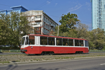 tram in moscow