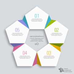 Infographics Vector Background #5-Sep Process