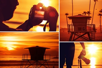 Beach Photography Collage